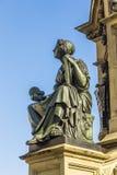 在南Rossmarkt的约翰内斯・谷登堡纪念碑在Fra 免版税库存照片