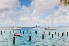 在博内尔岛的帆船- ABC海岛 免版税图库摄影