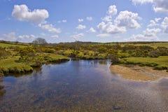 在博德明的小河停泊 库存图片