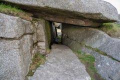 在博德明的粗砺的突岩停泊 图库摄影