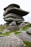 在博德明的Cheesewring石头形成停泊 免版税库存图片