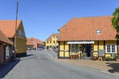 在博恩霍尔姆海岛上的Svaneke 免版税库存图片