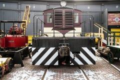 在博物馆的加拿大机车 免版税库存图片