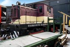 在博物馆的机车 免版税库存图片