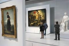 在博物馆里面 免版税库存照片