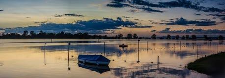 在博登湖奥地利psrt的晚上心情  库存图片