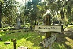 在博纳旺蒂尔公墓的方向 库存图片