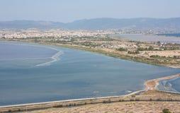 在卡利亚里,撒丁岛的看法 免版税图库摄影