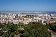 在卡利亚里,撒丁岛的看法 免版税库存照片
