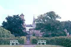 在卡塞尔迷住Lowenburg城堡看法,德国 库存图片