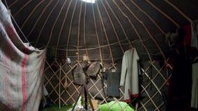 在卡尔梅克的yurt里面 股票录像
