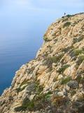 在卡尔维(vert)之外的科西嘉岛峭壁 免版税库存图片