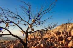 在卡帕多细亚的红色谷或日落点,安纳托利亚,土耳其 图库摄影