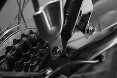 在卡式磁带的自行车链子 免版税库存照片