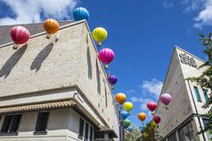 在卡沃特马戏的热空气气球在布里斯托尔 图库摄影