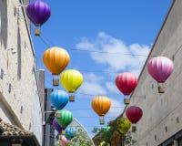 在卡沃特马戏的热空气气球在布里斯托尔 免版税库存图片