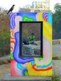 在卡特海滩孟买的画框 库存照片