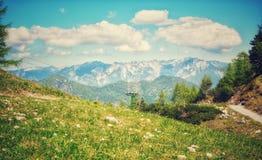 在卡特琳奥地利人的风景 背景自然 图库摄影