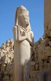 在卡纳克神庙复合体的拉姆西斯II雕象 免版税库存照片