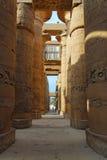 在卡纳克神庙寺庙的专栏 免版税库存图片