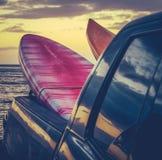 在卡车的减速火箭的水橇板 免版税库存照片