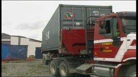 在卡车的容器 影视素材