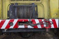 在卡车的搅盘机 免版税库存照片