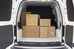 在卡车的货物区域 免版税库存照片