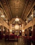 在卡齐米日区的犹太处所的犹太教堂内部我 免版税图库摄影