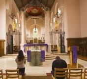 在卡默利特平纹薄呢礼拜堂里面在Oakville 库存图片