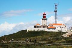 在卡巴Da Roca,葡萄牙的一座灯塔 库存图片