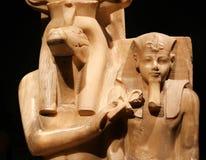 在卢克索博物馆的上帝和国王雕象埃及的 免版税图库摄影