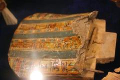 在卢克索博物馆的古老埃及面具埃及的 免版税库存图片