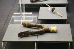 在卢克索博物馆-埃及的古老军用轮子 免版税库存图片