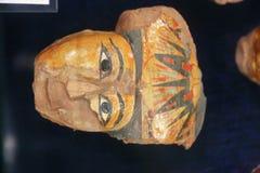 在卢克索博物馆-埃及的古老埃及面具 图库摄影