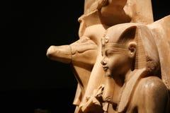 在卢克索博物馆-埃及的雕象 库存图片