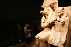 在卢克索博物馆-埃及的雕象 免版税库存照片
