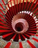 在卢布尔雅那城堡的螺旋形楼梯 免版税库存照片