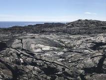 在卢旺达火山国家公园的大岛熔岩 库存图片
