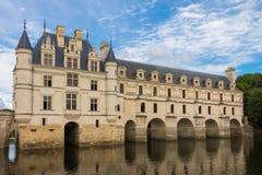 在卢瓦尔河法国的城堡chenonceau 库存照片