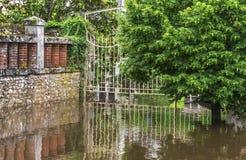 洪水在卢瓦尔谷 库存图片