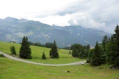 在卢达本纳,瑞士附近的美好的风景 库存图片