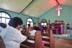 在卫理公会的礼拜日在斐济 图库摄影