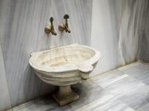 """在卫生间†""""哈马姆的洗碗器 免版税图库摄影"""
