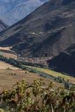在印加人的神圣的谷的生活方式 免版税库存照片