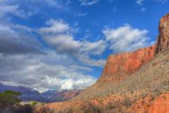 在印地安庭院附近的AZ盛大峡谷明亮的天使足迹 免版税库存照片