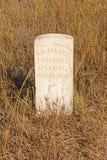 在印地安战场的墓碑 库存照片