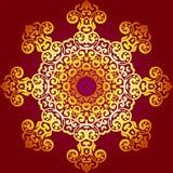在印地安样式的富有的金装饰品 免版税库存图片