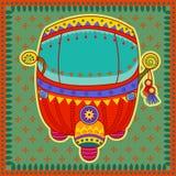 在印地安艺术样式的自动人力车 库存例证
