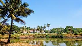 在印地安vacatiom期间的海滨 免版税库存图片